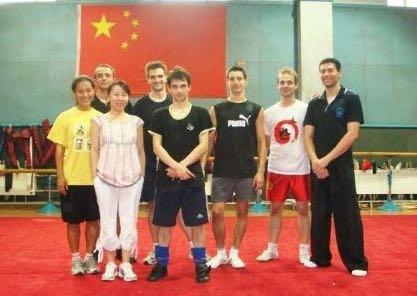 Entraînement Chine 2007 avec Wang Xiaona